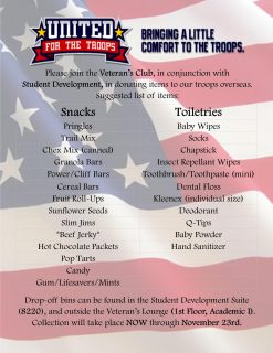 United for the Troops Flyer