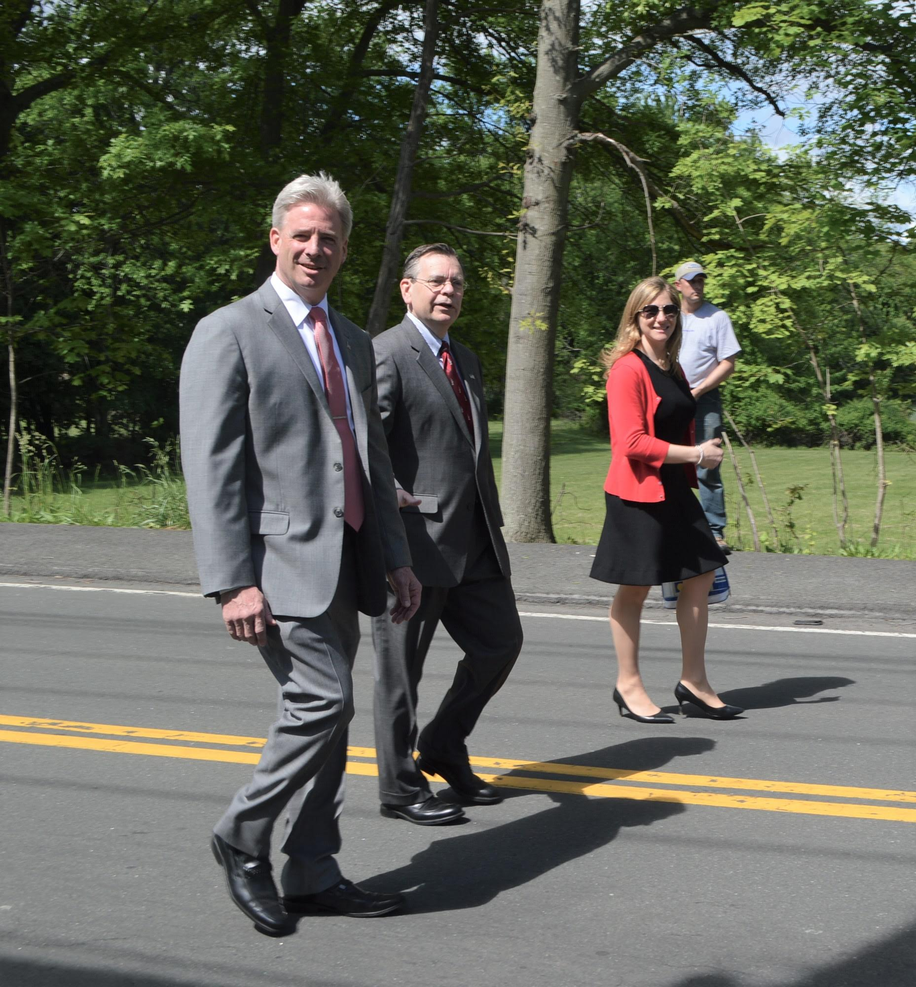 Sullivan and Hoehmann march in Congers Parade
