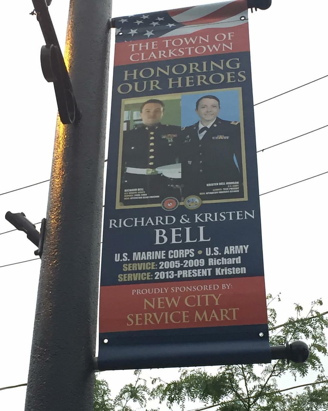 TOWN OF CLARKSTOWN DISPLAYS MILITARY TRIBUTE BANNERS FOR MEMORIAL DAY