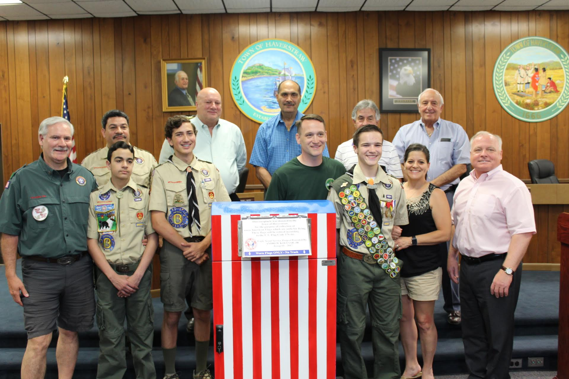 KOLESAR'S EAGLE SCOUT PROJECT ANNOUNCED AT HAVERSTRAW BOARD MEETING