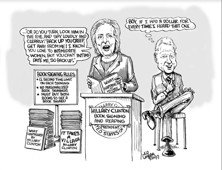 Hillary's Hilarious Book Tour: Cartoon by Ed Chorba