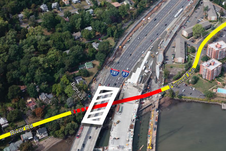 All traffic to shift to New TZ by Friday, October 6; Parts of River Rd. in South Nyack to be closed for next month