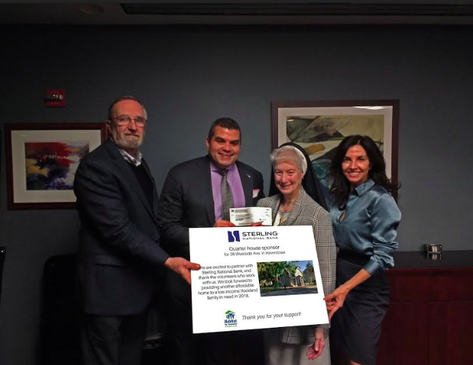 HABITAT FOR HUMANITY AWARDED GRANT FROM STERLING NATIONAL BANK