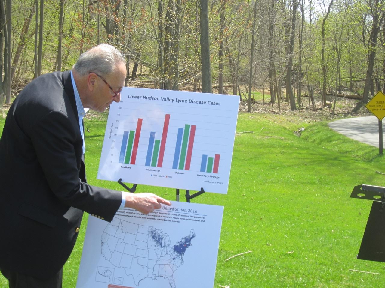 Schumer makes appearance in Rockland to raise awareness of Lyme's Disease