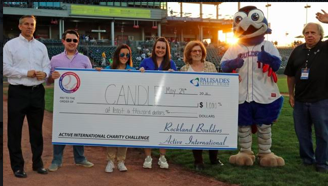 ACTIVE INTERNATIONAL/ROCKLAND BOULDERS CHARITY CHALLENGE RAISES NEARLY $1,000 FOR CANDLE