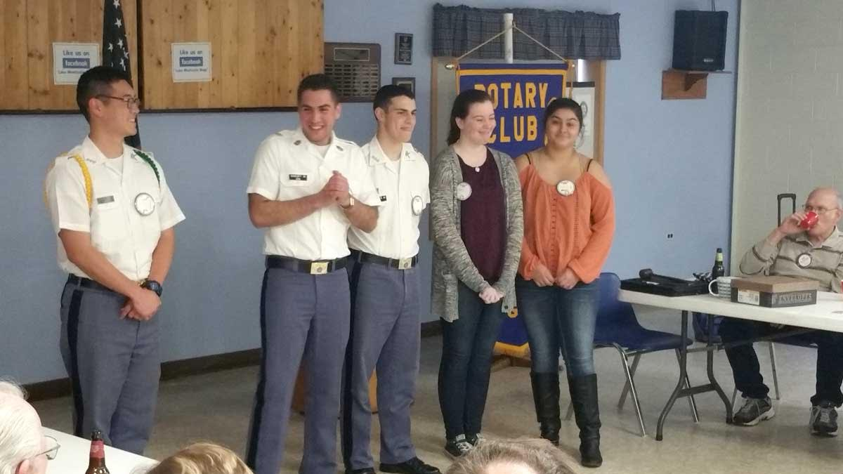CADET HENRIQUES OF FORK UNION MILITARY ACADEMY SPEAKS AT ROTARY CLUB