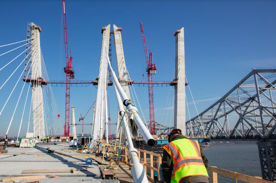 Westbound span nearing completion; will open sometime this year