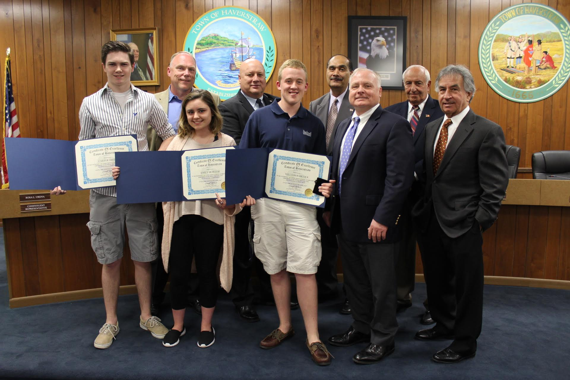 SOCIAL STUDIES STUDENTS HONORED BY HAVERSTRAW TOWN BOARD