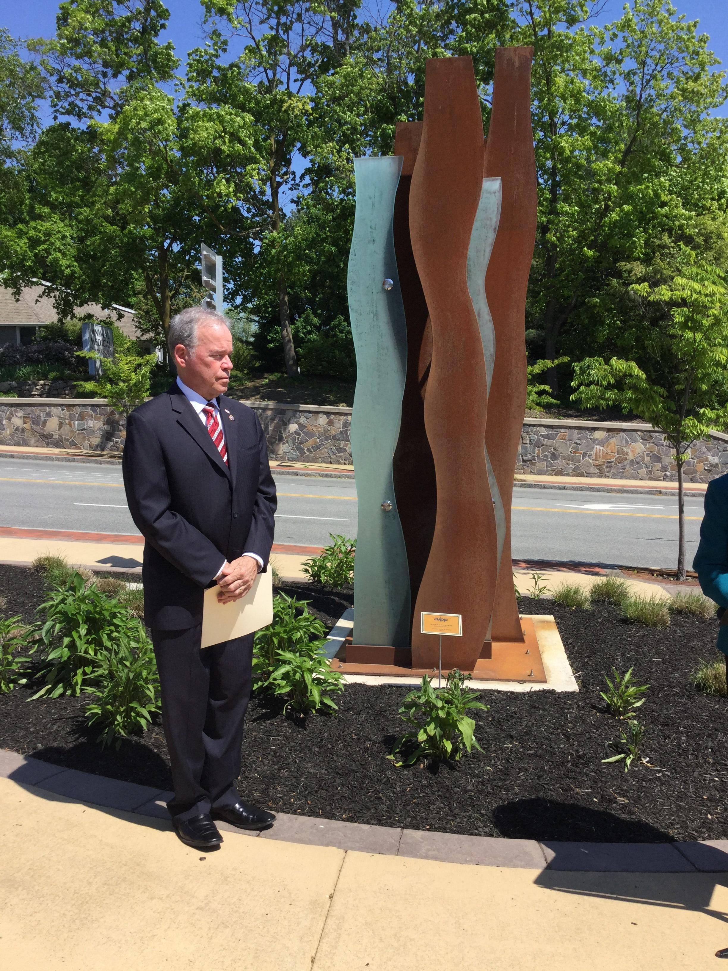 County dedicates two works of public art at Allison-Parris Office Building
