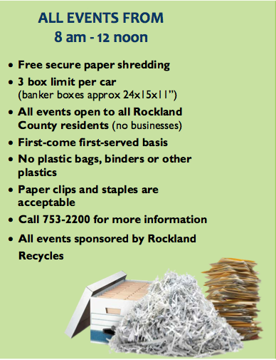 PAPER SHRED IN HAVERSTRAW SATURDAY