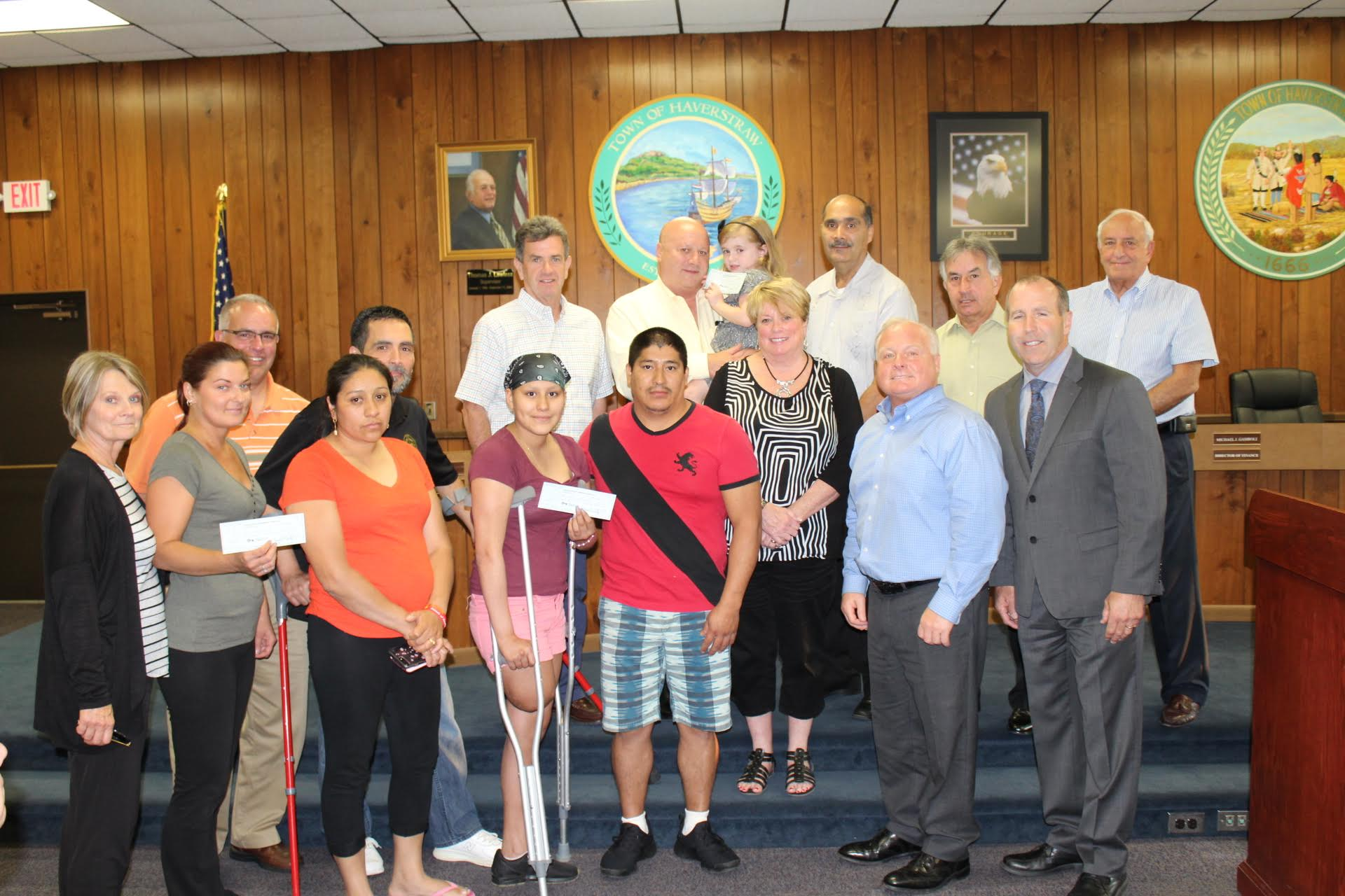 5K RUN/WALK MONIES HANDED OUT AT HAVERSTRAW BOARD MEETING