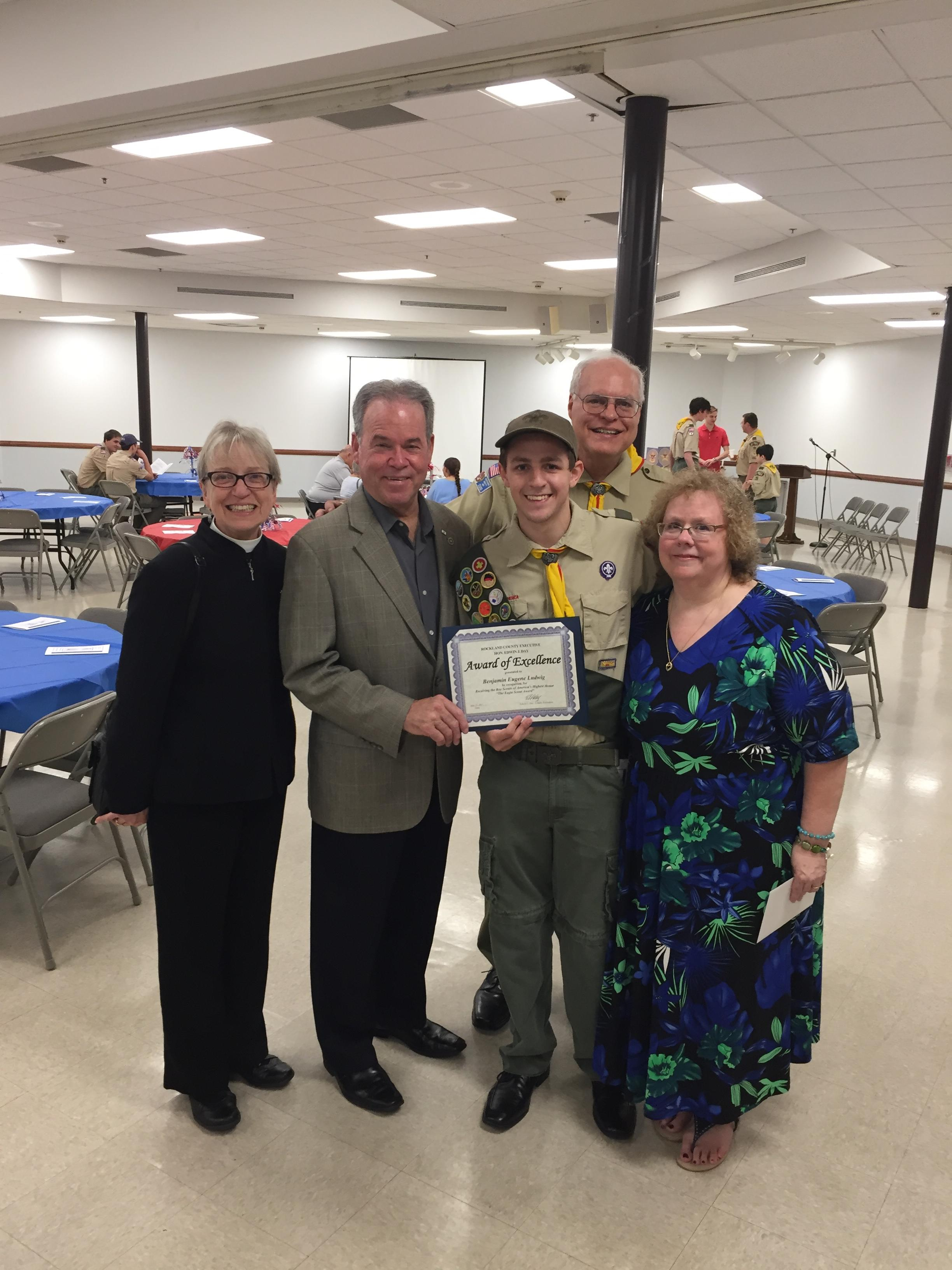 CLARKSTOWN NORTH SENIOR EARNS EAGLE SCOUT RANK