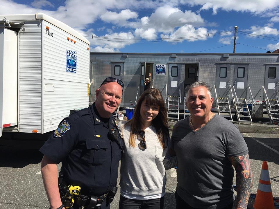 "HAVERSTRAW COPS HELP OUT ON SET OF ""THE SINNER"""