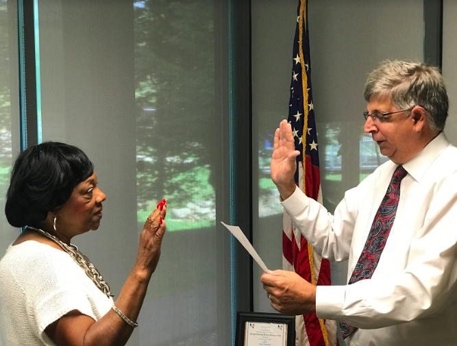 ROCKLAND COUNTY CLERK PAUL PIPERATO SWEARS IN CONSTANCE FRAZIER AS NEW COMMISSIONER OF HUMAN RIGHTS