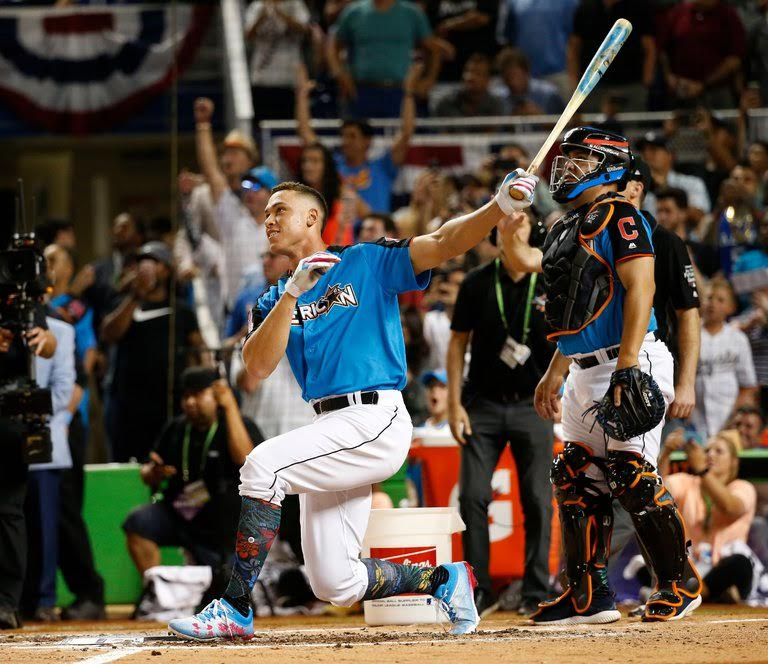 JUDGE IMPRESSES AT HOME RUN DERBY