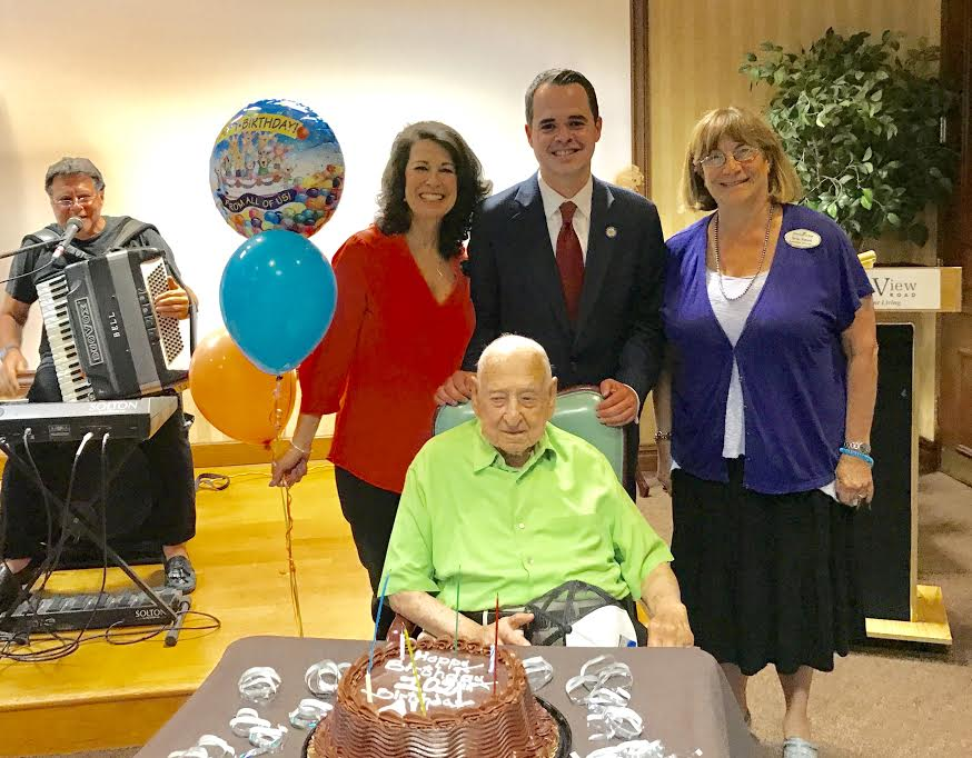 Carlucci Celebrates WW2 Veteran's 102nd Birthday with FountainView Senior Living Community