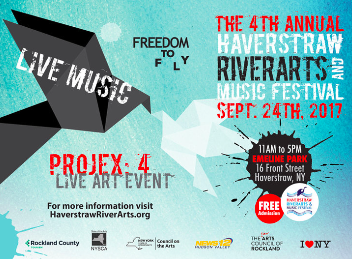 HAVERSTRAW RIVERARTS & MUSIC FESTIVAL CELEBRATES THE FREEDOM TO FLY