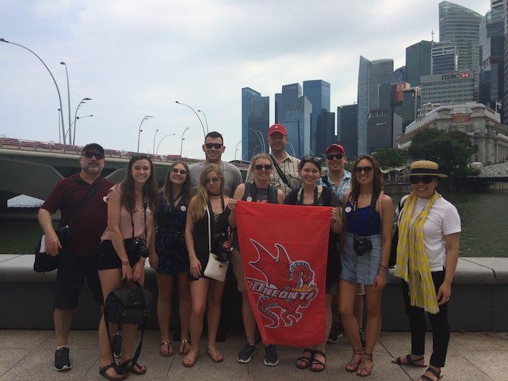 Isabella Rieder spends spring break in Singapore