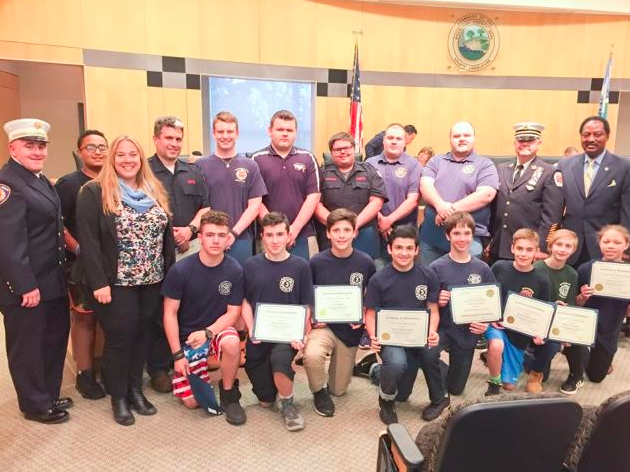 LEGISLATOR SANTULLI HONORS FIRE & EMS YOUTH ACADEMY PARTICIPANTS