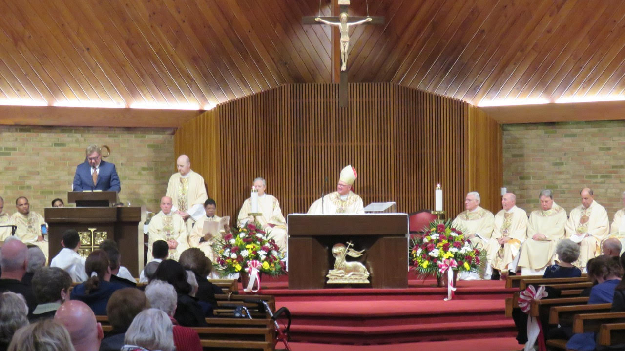 CARDINAL DOLAN VISITS FOR 150TH ANNIVERSARY MASS OF ST. CATHARINE