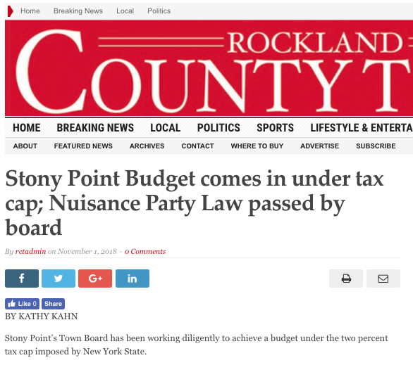 HEADLINE-GATE:  Politician publishes ad with fake Rockland County Times headline