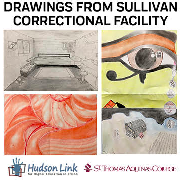 Drawings from Sullivan Correctional Facility, Reception and Talk to be Held at St. Thomas Aquinas College