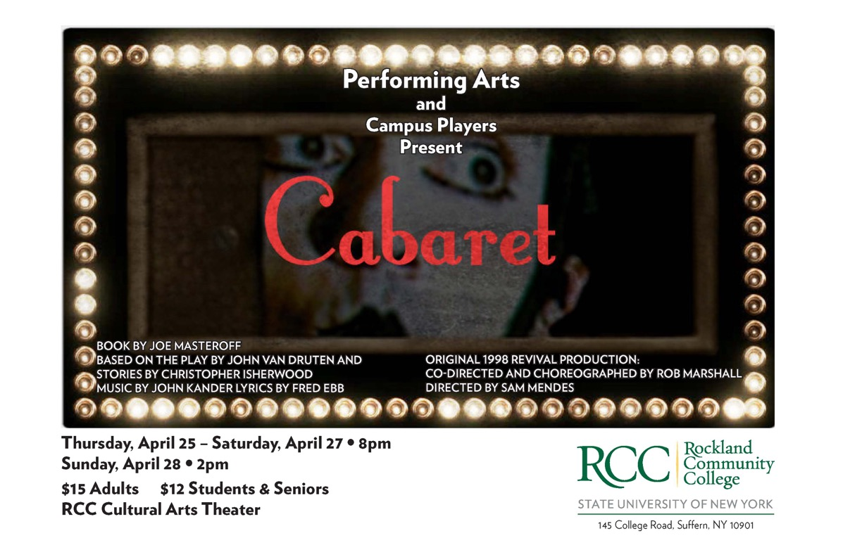 'Cabaret' To Take Stage at RCC Tony Award-winning musical to be presented April 25-28 in Cultural Arts Theater