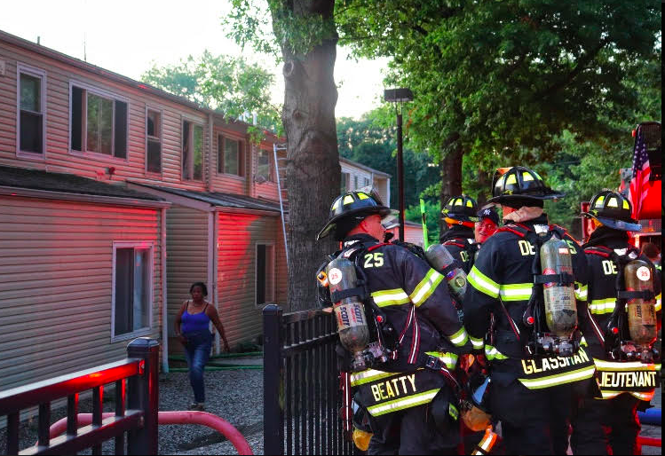 Fire at Lakeview Village Apartments in Spring Valley