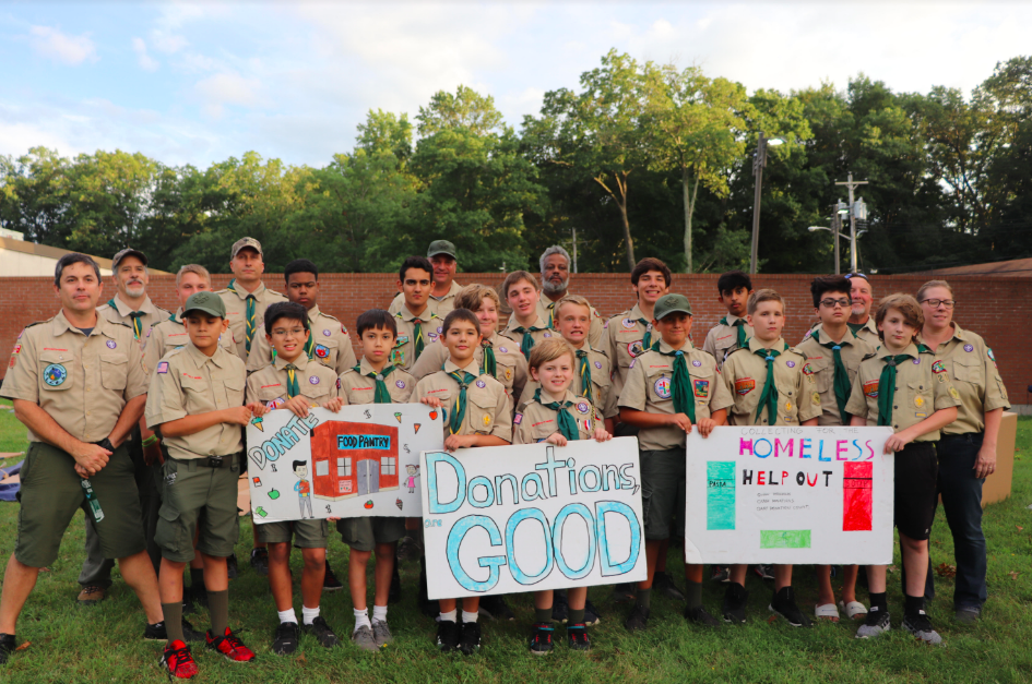 Troop 21 Holds Camp Out to Help the Homeless