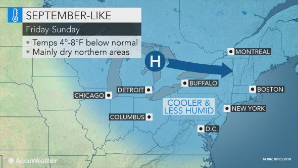 Big changes coming to Northeast following midweek heat, storms
