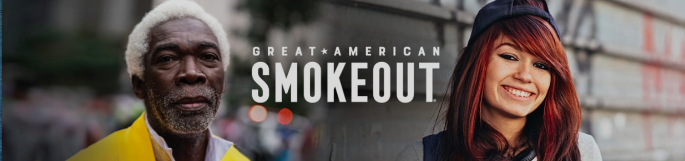 QUIT SMOKING FOR THE GREAT AMERICAN SMOKEOUT ON NOVEMBER 21st