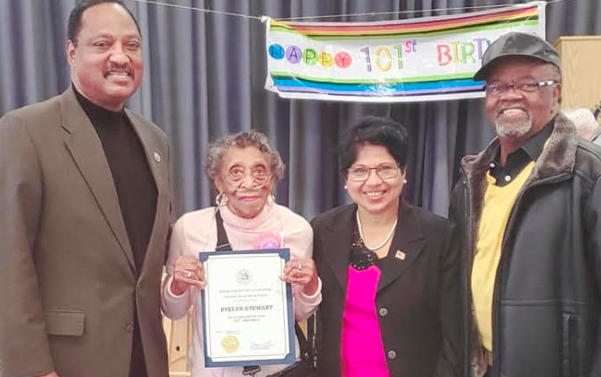 101 Years and Counting for Forever Young Evelyn Stewart
