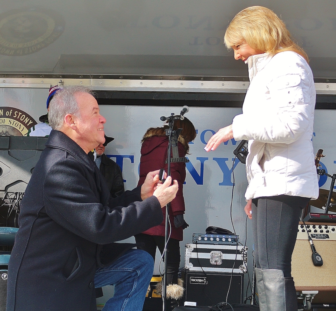 COUNTY EXECUTIVE ED DAY GETS ENGAGED AT 21ST ANNUAL POLAR BEAR PLUNGE