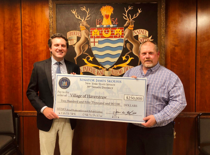 Skoufis Presents Kohut with $250k Grant for Haverstraw Roads