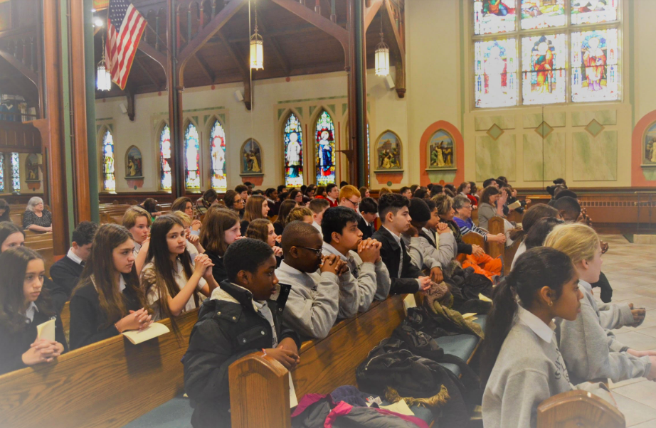 Annual 8th Grade Rose Mass for Life