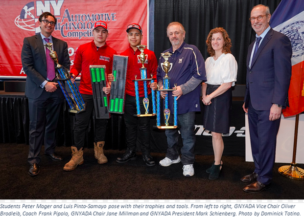 Rockland County Auto Tech Students Win State Finals, Will Represent New York at National Championships in April
