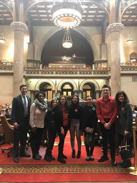 Field Stone Middle School Reality Check Youth met with State Lawmakers at the Capitol; discussed the NYS Tobacco Control Program and Unmet Needs among Certain Communities