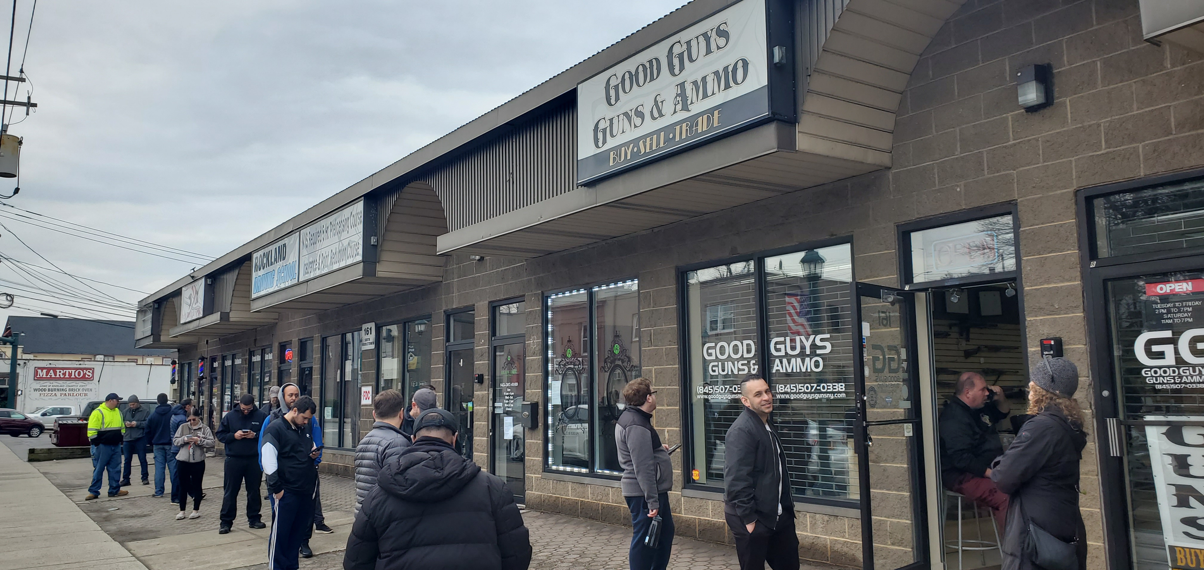 CITIZENS EXERCISE SECOND AMENDMENT: Line around the block at the gun shop in Nanuet