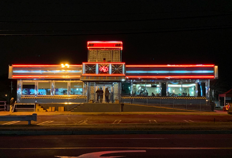 """""""Master"""" Filming at Airmont Diner"""