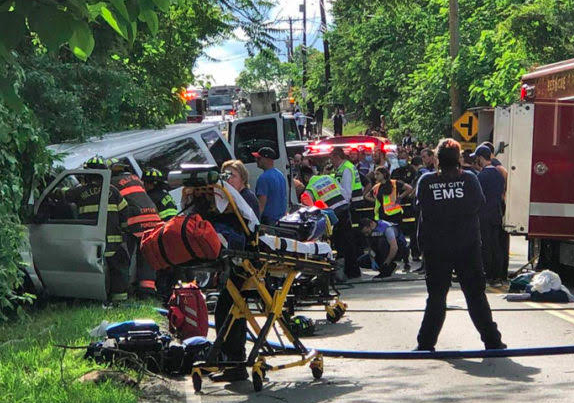 Horrible crash on New Hempstead kills two and injures nine