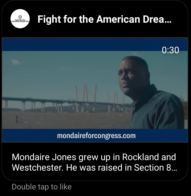 AOC-linked PACs republishing Mondaire Jones likeness and linking to his website