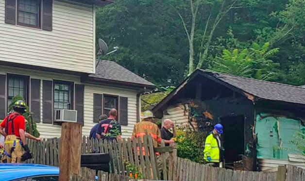 Man sustains 'significant burns' in Congers shed fire