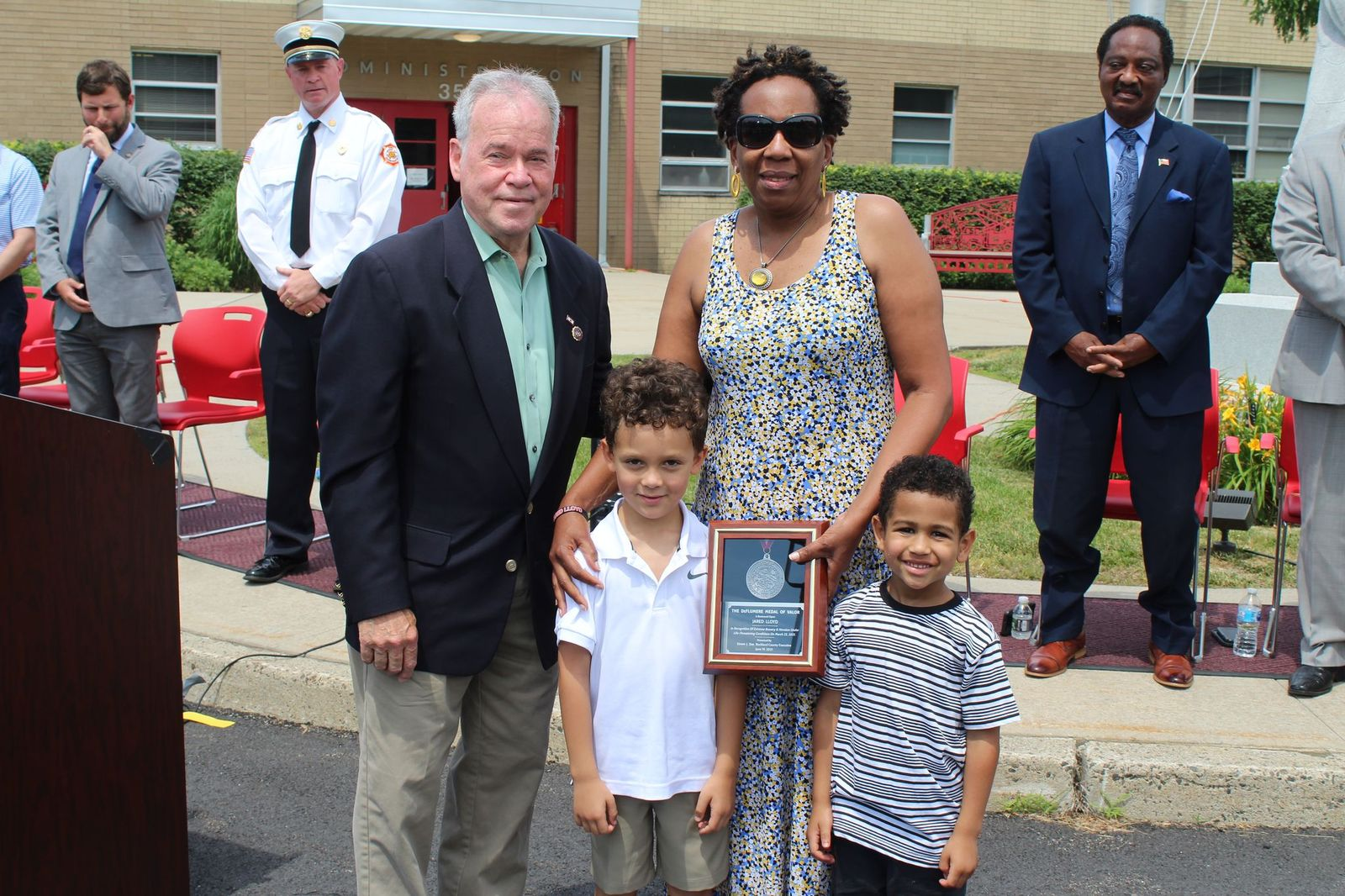 Family of Jared Lloyd Presented With Al DeFlumere Award