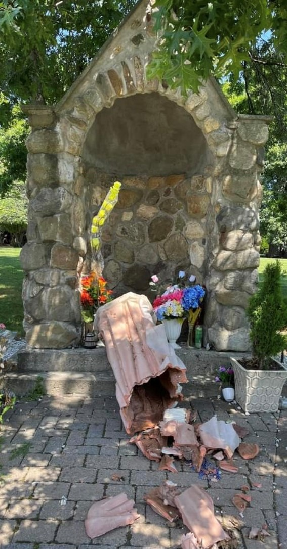 St. Joseph Smashed: Vandal Damages Property at Century Old Spring Valley Church